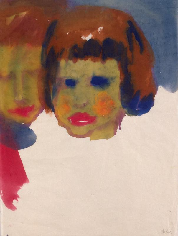 Эмиль Нольде. Портрет молодой женщины и ребенка