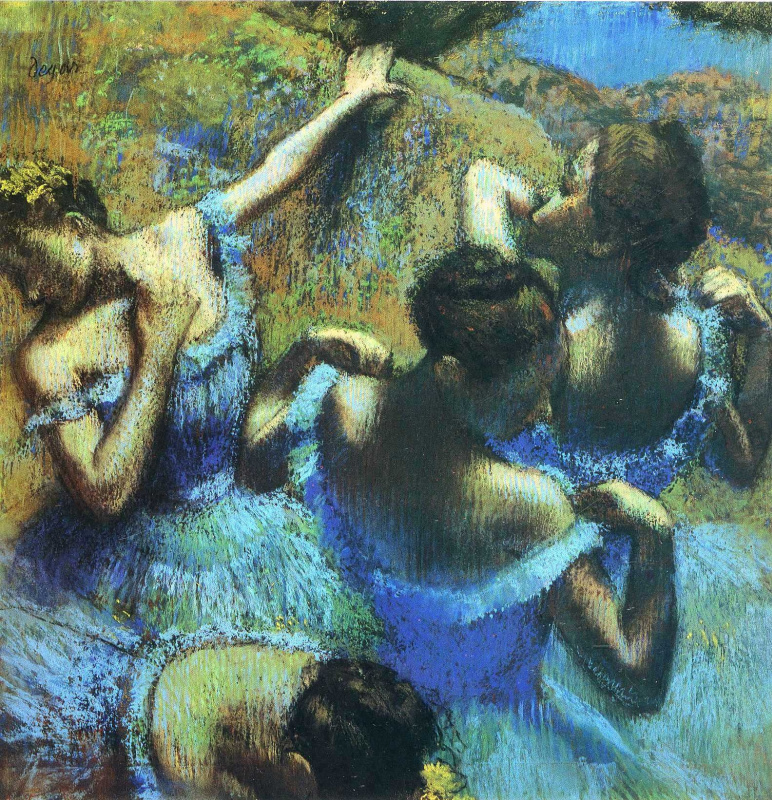 Edgar Degas. Blue Dancers