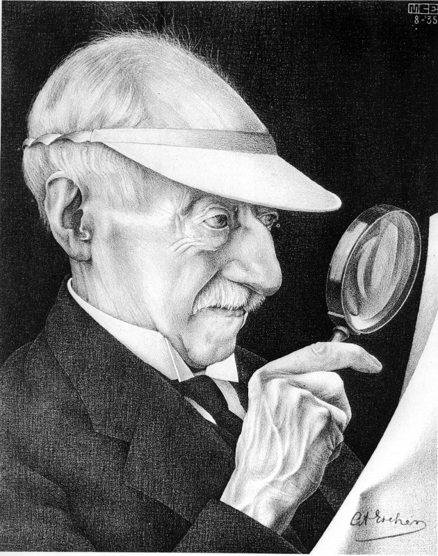 Maurits Cornelis Escher. Portrait of G. A. Escher
