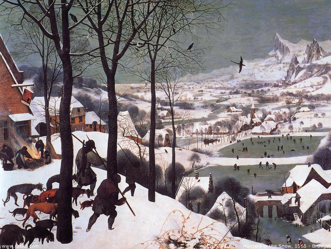 "Питер Брейгель Старший. ""Охотники на снегу"""