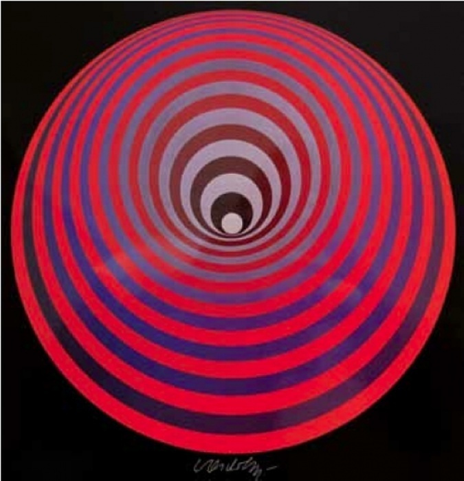 Victor Vasarely. Spiral composition
