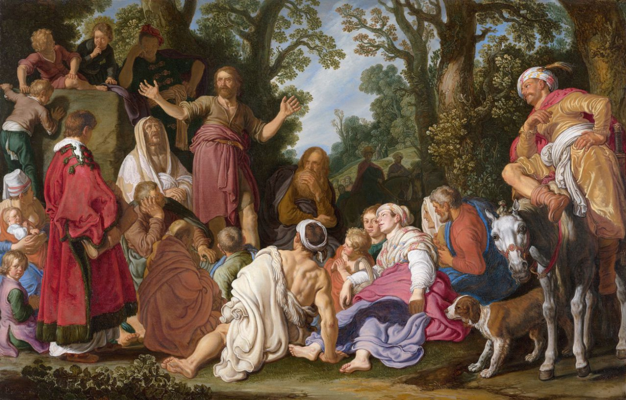 Peter Peters Lastman. St John the Baptist Preaching