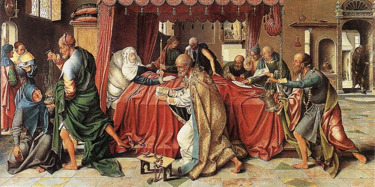 Jos van Kleve. Death Of The Virgin Mary