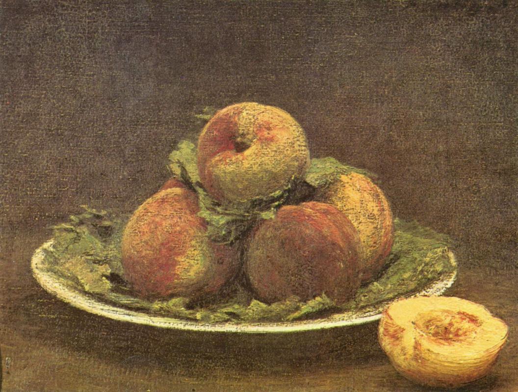 Анри Фантен-Латур. Натюрморт с персиками
