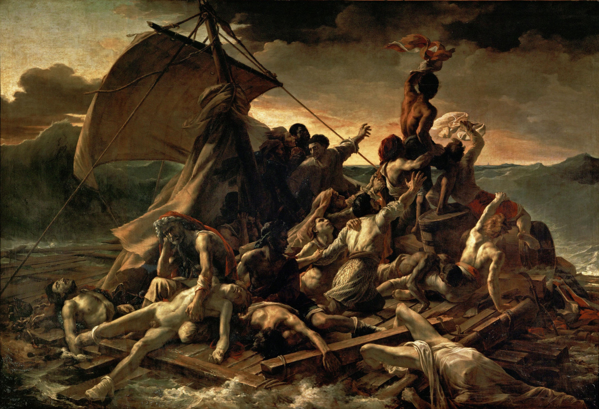 "Théodore Géricault. The collapse of the raft ""Medusa"""