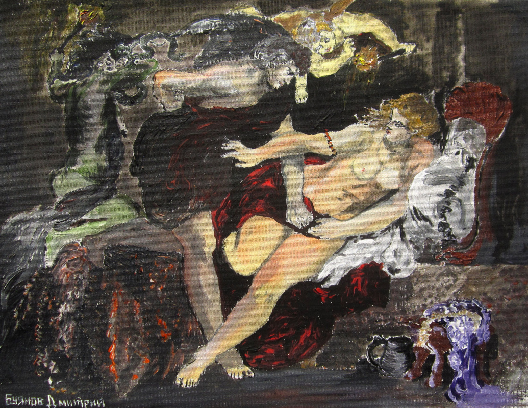 "Дмитрий Юрьевич Буянов. A free copy of the painting by Peter Paul Rubens""Tarquinius and Lucretia"" by the Artist Dmitry Buyanov"