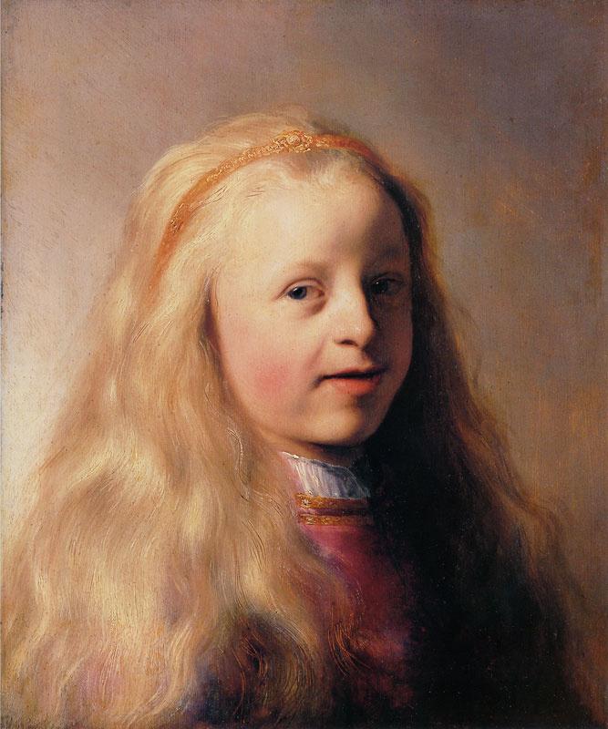 Ян Ливенс. Портрет девочки с длинными волосами