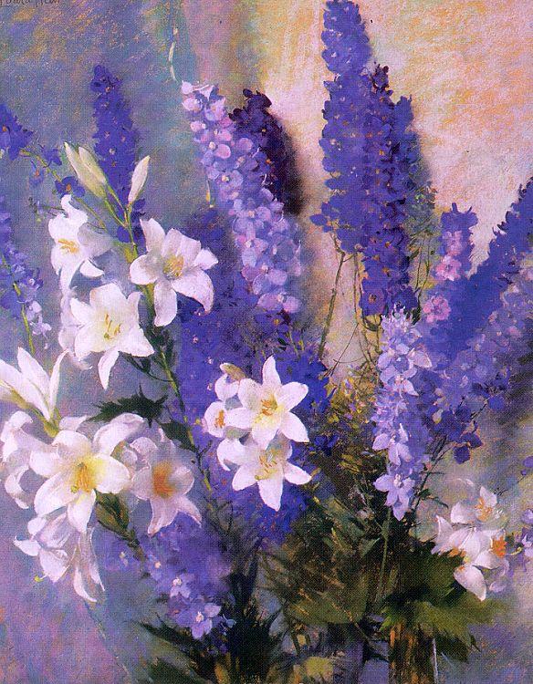 Лаура Кумбс Хиллз. Голубые цветы