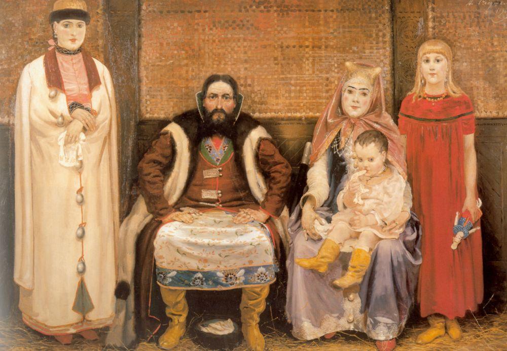 Андрей Петрович Рябушкин. Семья купца в 17 веке