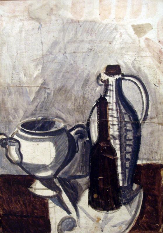 Андрей Владимирович Васнецов. Натюрморт с бутылками