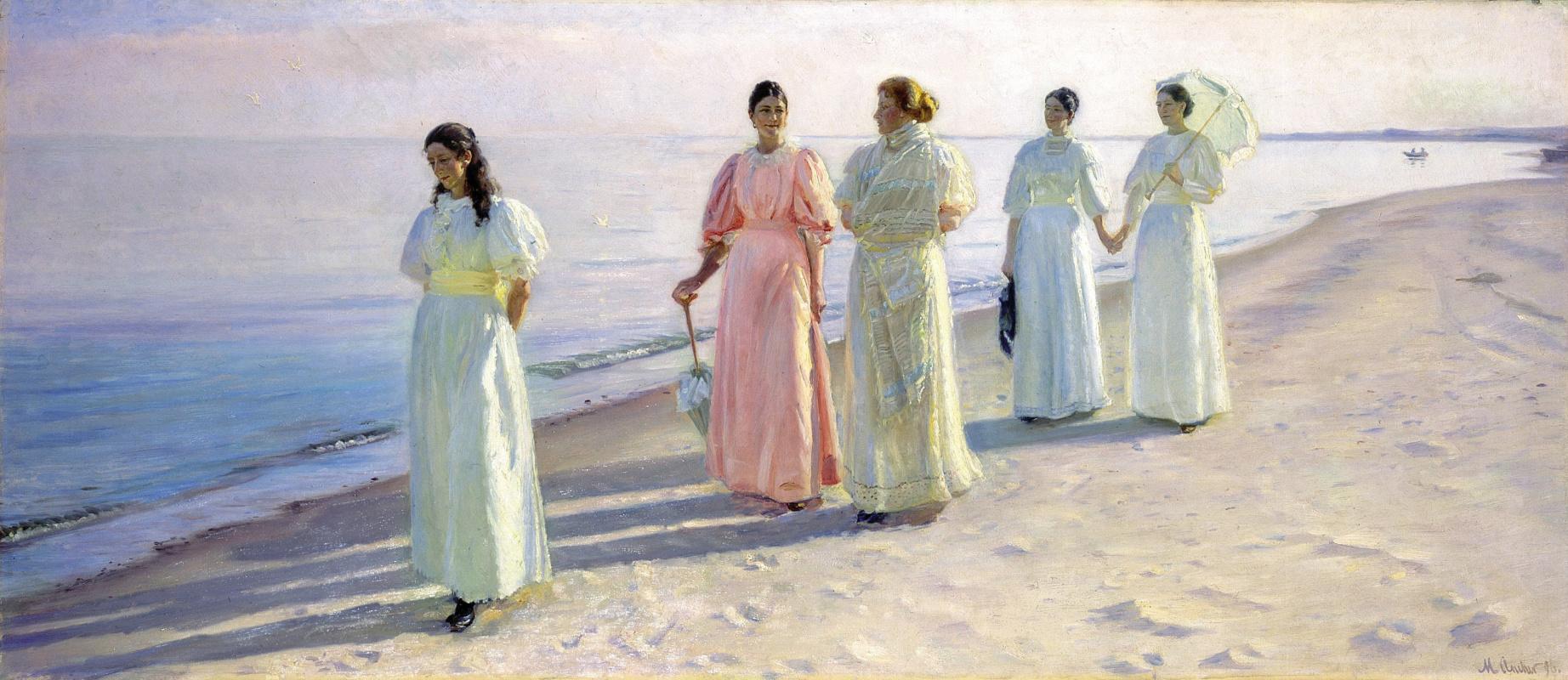 Микаэль Питер Анкер. Прогулка по пляжу