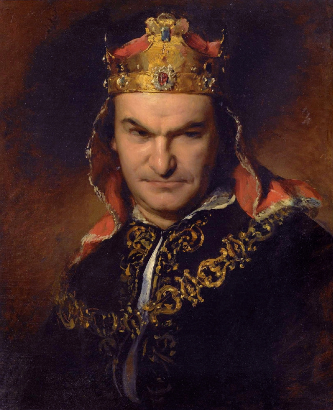 Friedrich von Amerling. Bogumil Dawison as Richard III