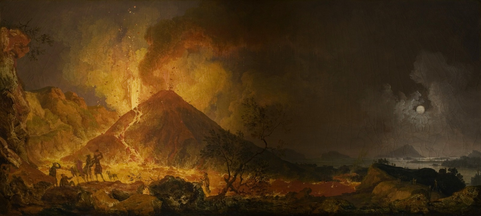 Pierre-Jacques Woller. The eruption of Vesuvius. 1771