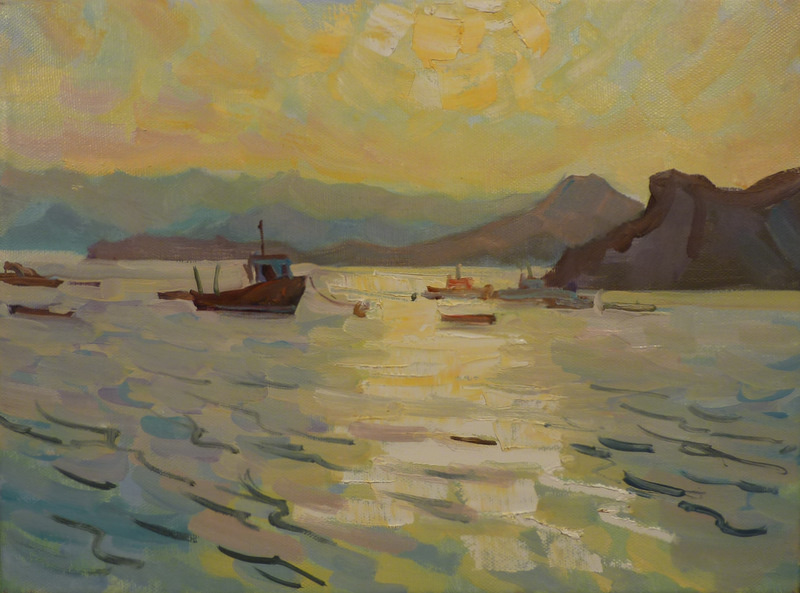 Владимир Никитович Шмуратко. Sunset in Ordzhonikidze