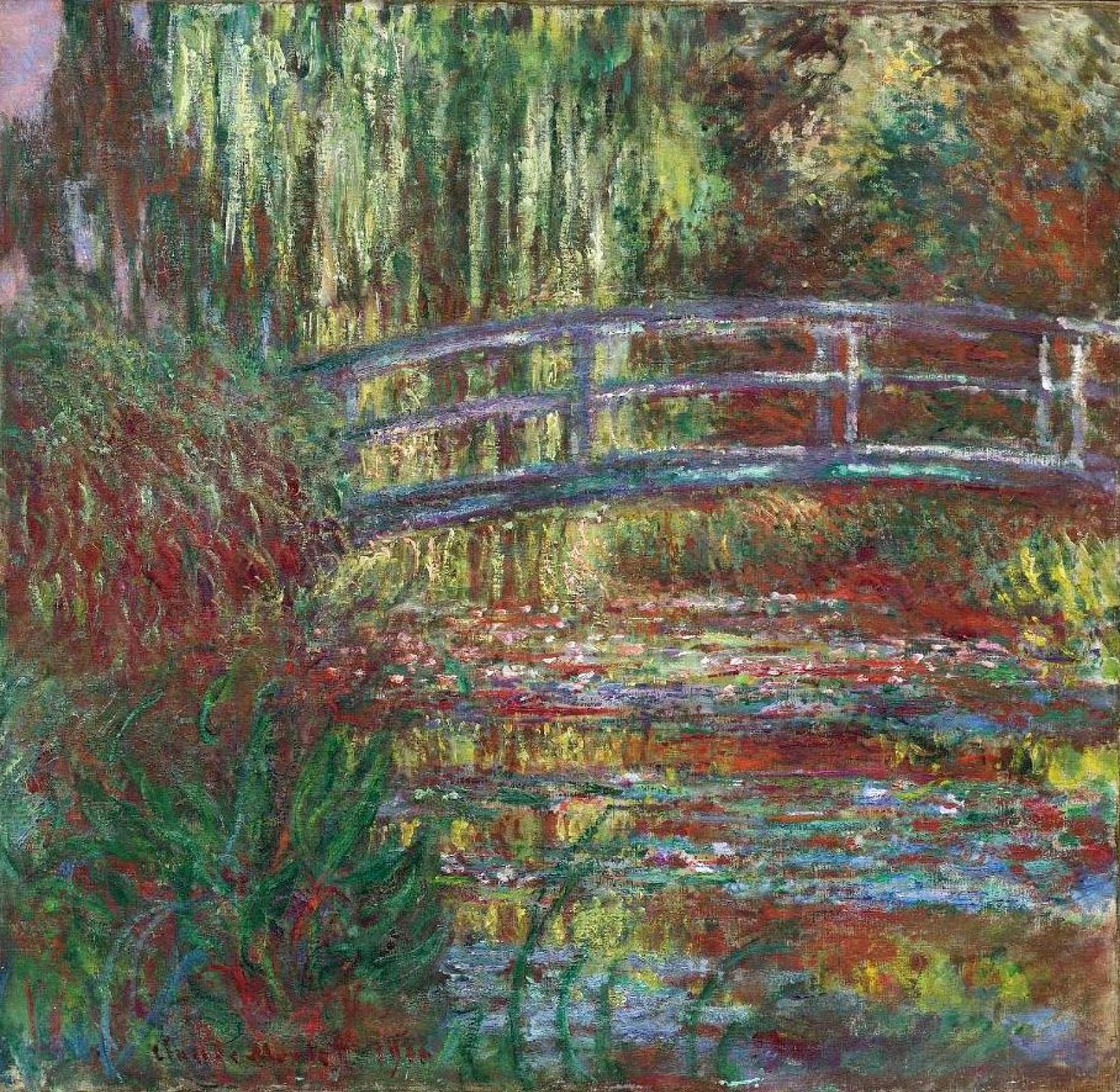 Клод Моне. Пруд с водяными лилиями (Японский мостик)