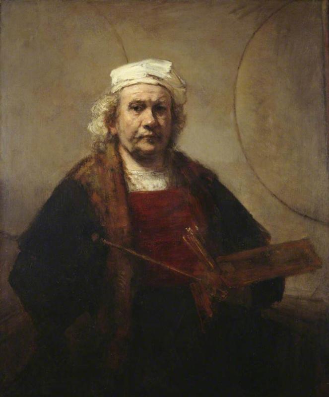 Рембрандт Харменс ван Рейн. Автопортрет с двумя кругами