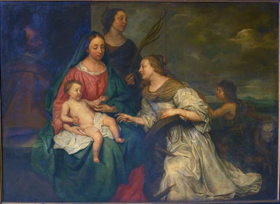 Mikaelina Votier. Mariage mystique de sainte Catherine et de sainte Barbe