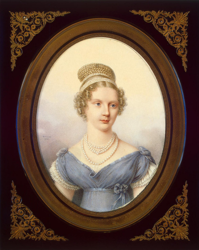Jean Benner. Portrait of Grand Duchess Alexandra Feodorovna