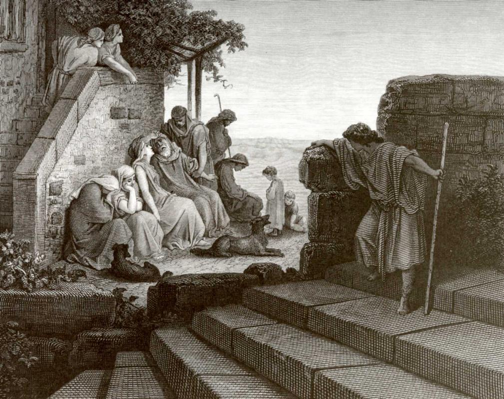 Поль Гюстав Доре. Иллюстрация к Библии: Возвращение блудного сына