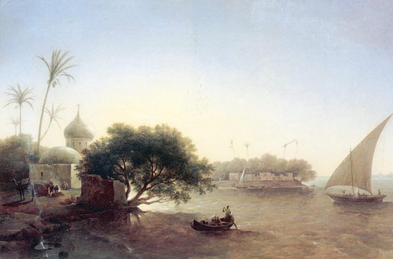 Григорий Григорьевич Чернецов. Вид на Нил в Египте
