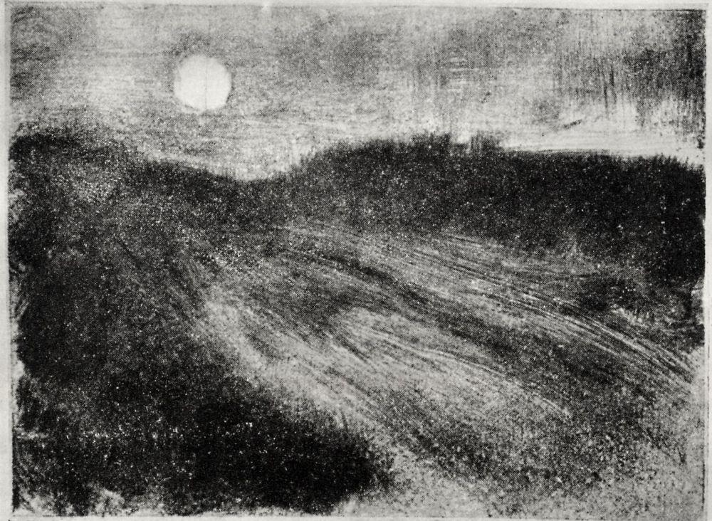 Эдгар Дега. Восход луны