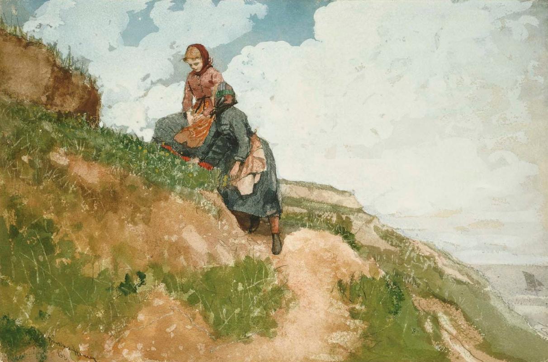 Winslow Homer. Girls on a rock