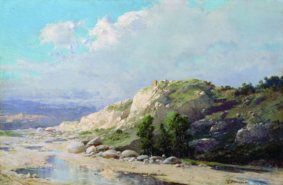 Nikolay Aleksandrovich Yaroshenko. Mountain landscape.