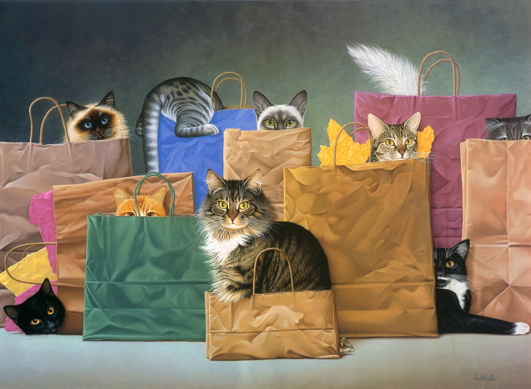 Braldt Bralds. Cats in bags