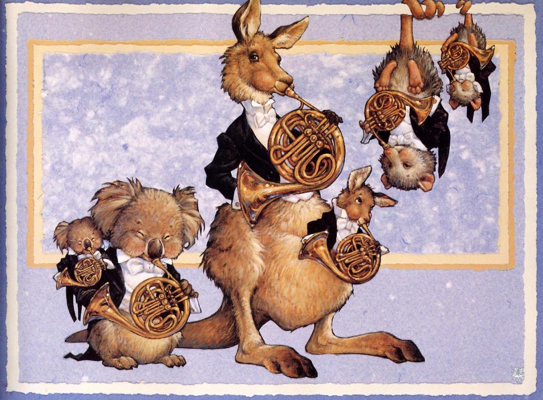 Скотт Густафсон. Животный оркестр. Французские Рога