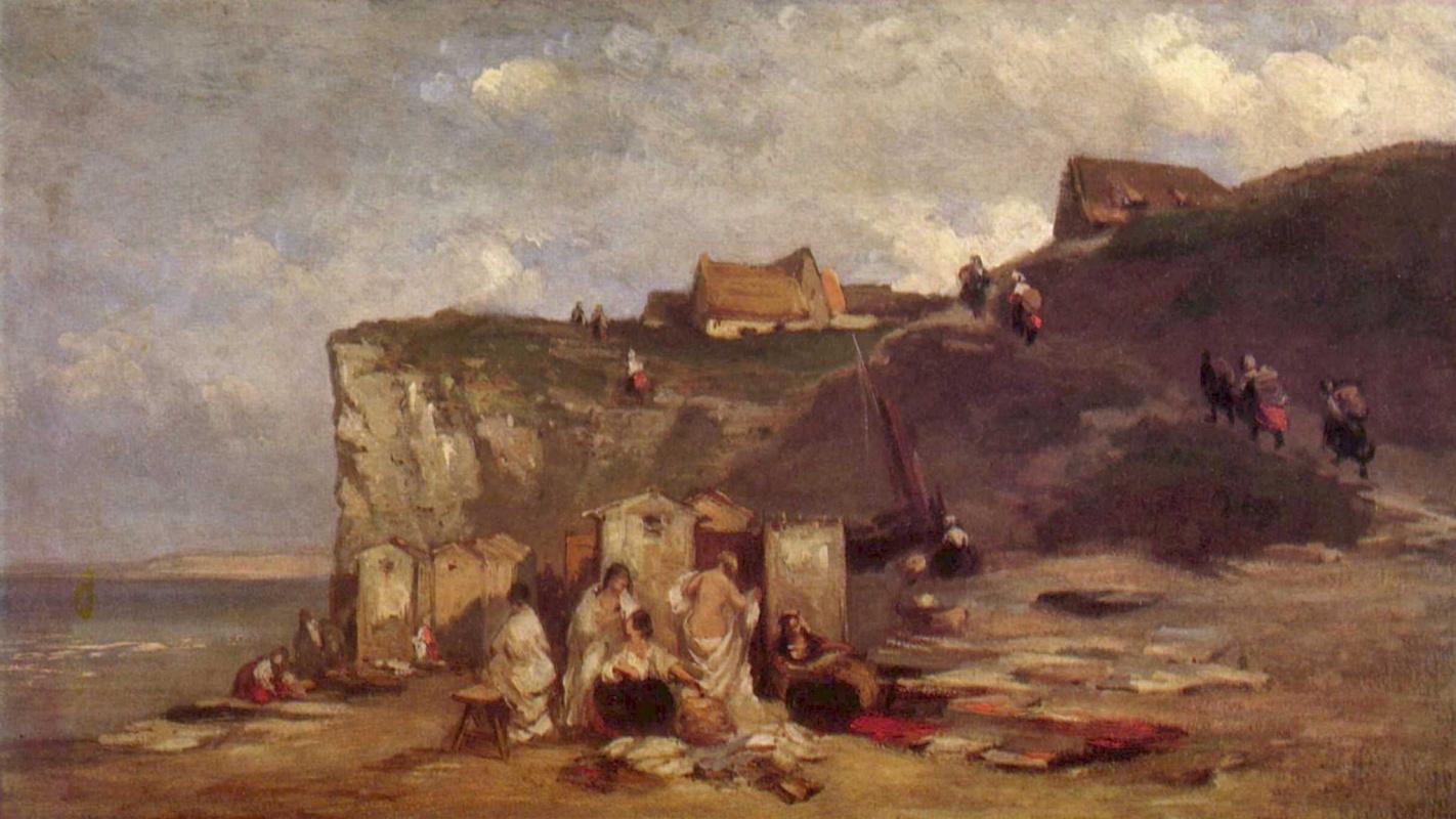 Карл Шпицвег. Женская купальня в Дьеппе III