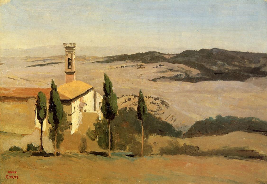 Камиль Коро. Церковь и колокольня