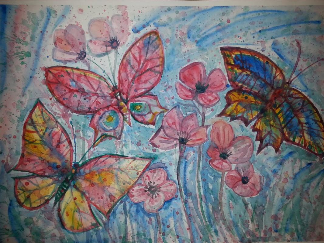 Natalia Gennadievna Torlopova. Butterflies fly