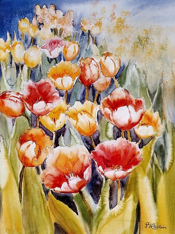 Лизетт Кантин. Тюльпаны