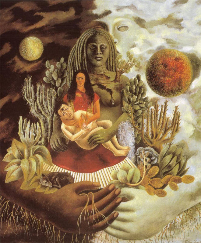 Frida Kahlo. Hug the Universe, the earth (Mexico), Me, Diego and Señor Xolotl