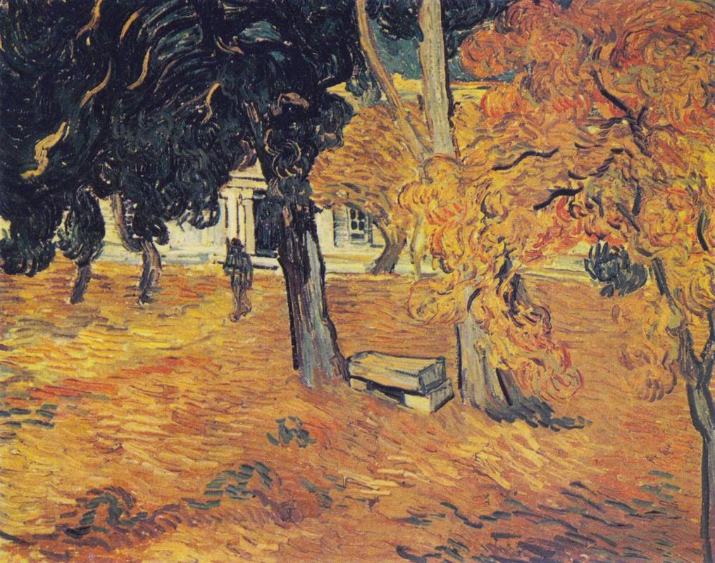 Vincent van Gogh. Park of the hospital Saint-Paul in Saint-Remy