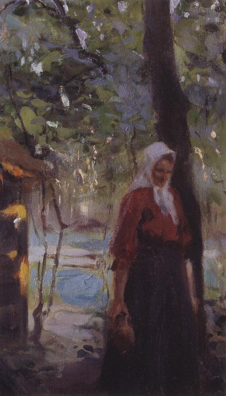 Валентин Александрович Серов. Женщина с крынкой