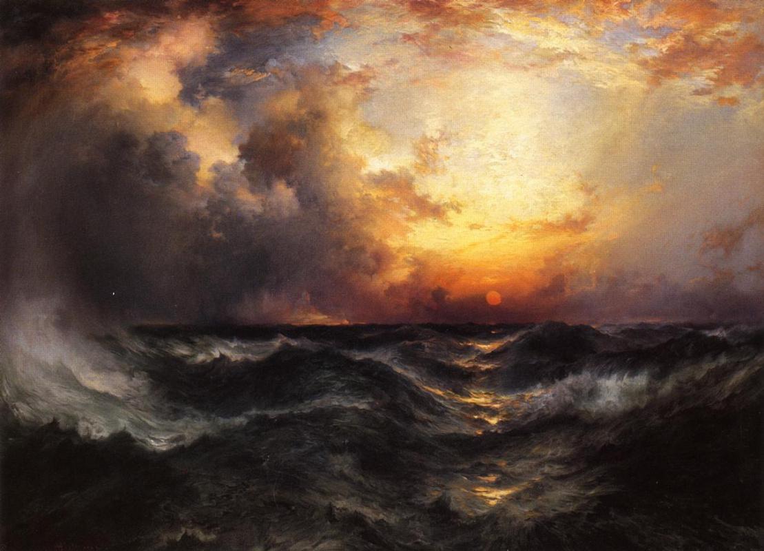 Thomas Moran. Sunset