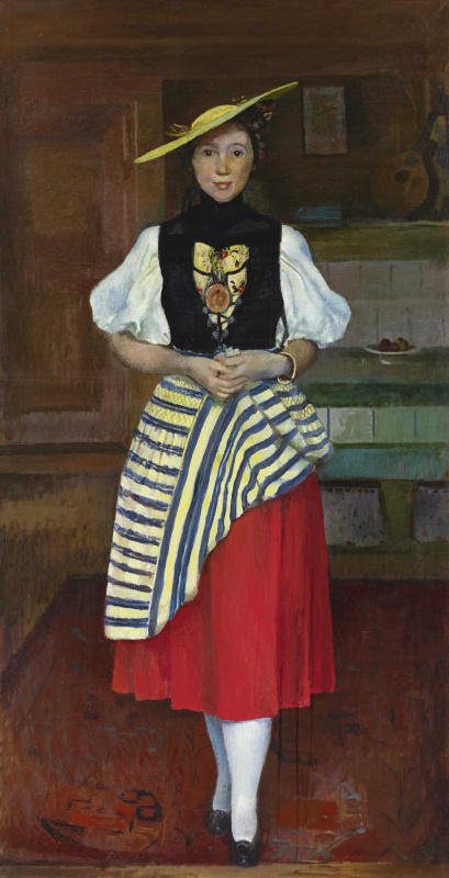 Cuno Amiè. Portrait of a young woman in national costume