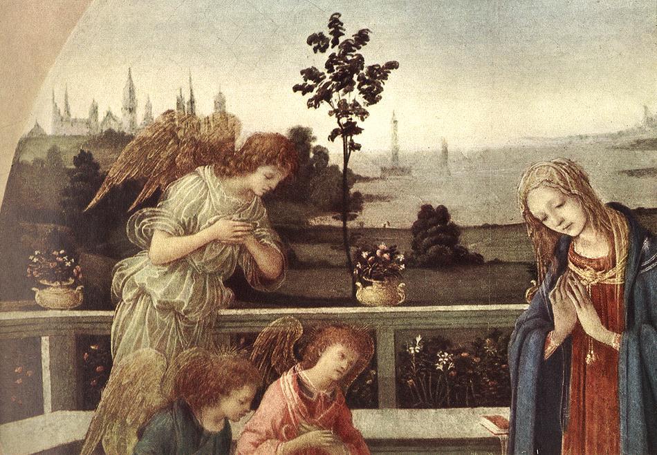 Filippino Lippi. The child worship