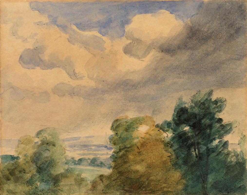 John Constable. Landscape. Sketch