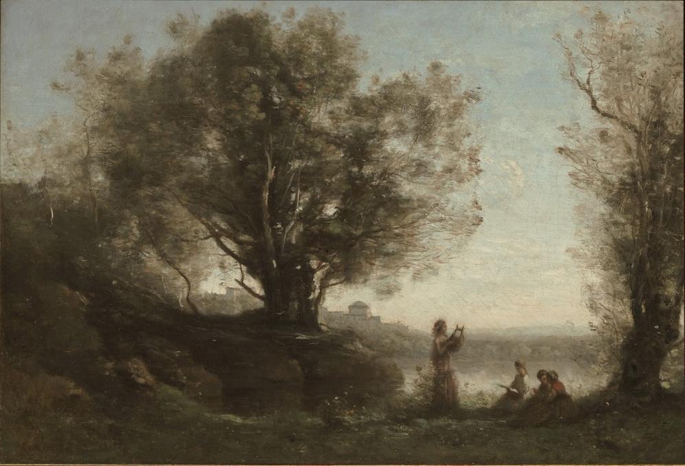 Camille Corot. Orpheus Mourns Eurydice