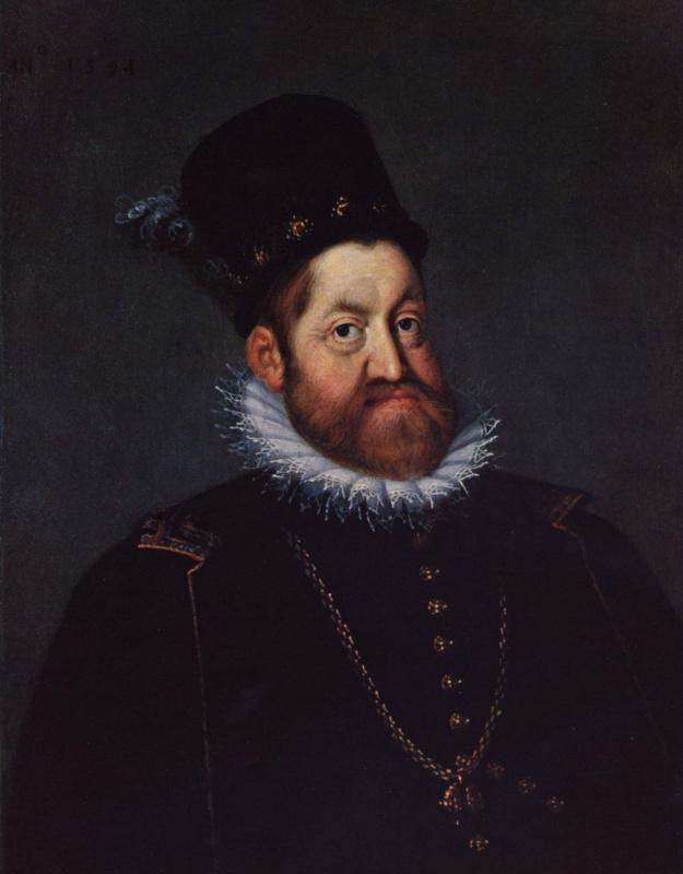 Йозеф Хейнтц Старший. Портрет импераора Рудольфа II