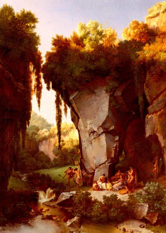 Скалистый пейзаж с вакханалиями