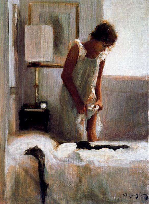 Каэтано де Аркер Буигас. Белая сорочка и черные чулки