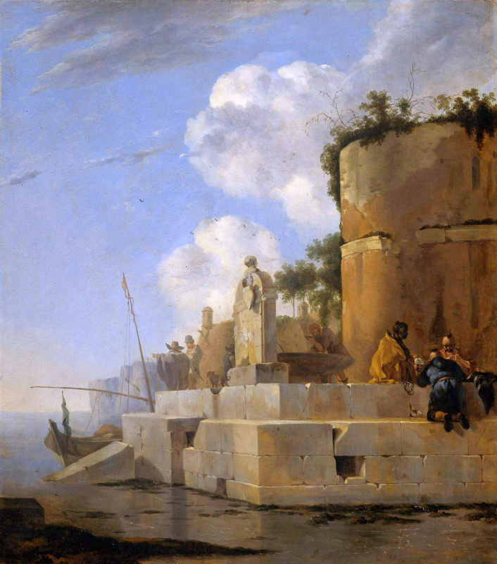 Ян Асселин. Руины у воды
