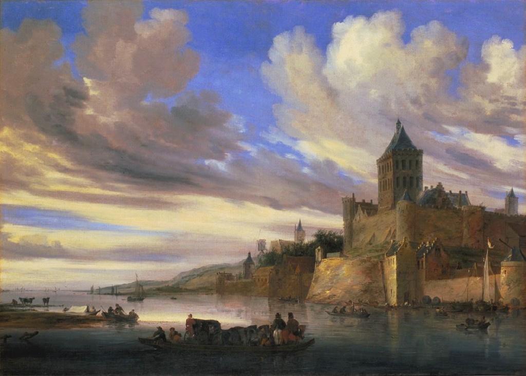 Саломон ван Рёйсдал. Крепость у реки