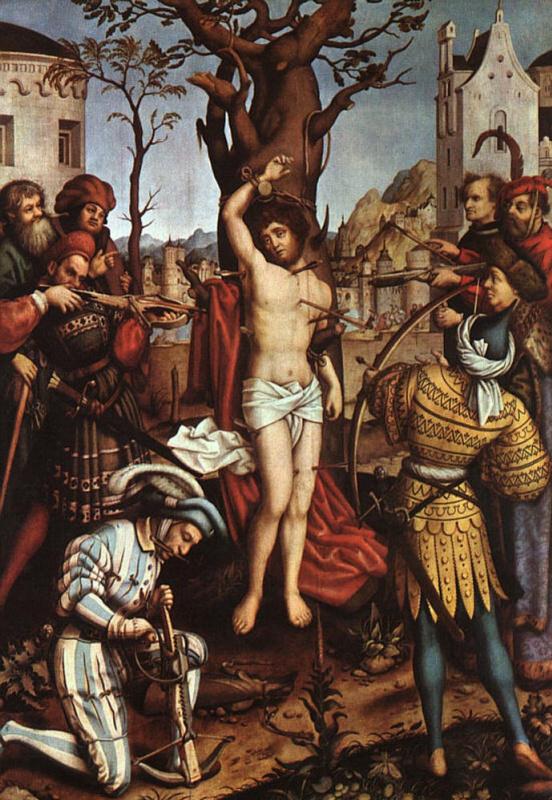 Ганс  Старший Хольбейн. Мученичество Святого Себастьяна
