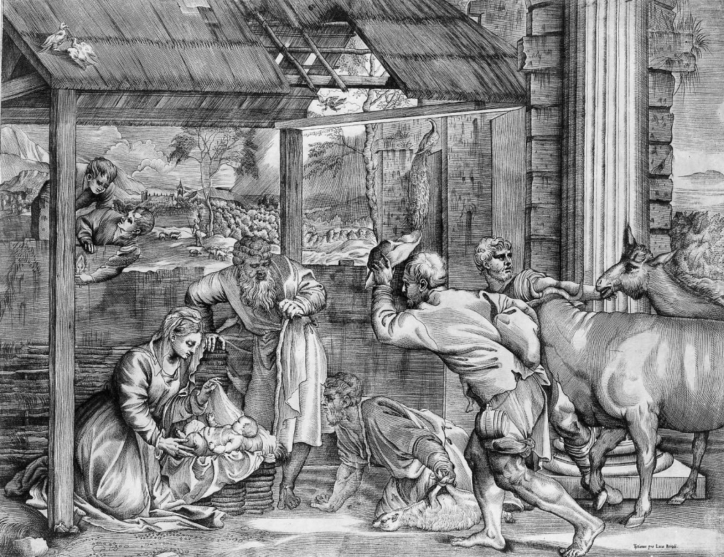 Titian Vecelli. Shepherds worship