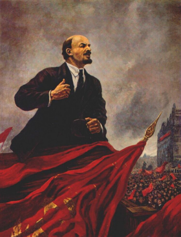 Alexander Mikhailovich Gerasimov. V. I. Lenin on the podium