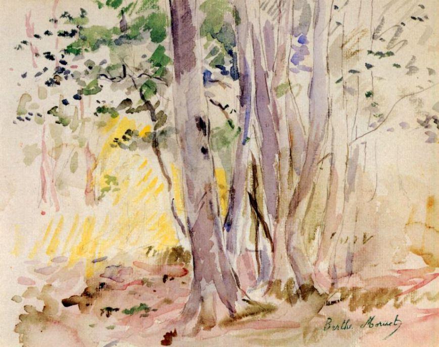 Берта Моризо. Булонский лес